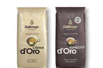 Кава Crema d'Oro 100% арабіка/ Espresso d'Oro 90% арабіка, 10 % робуста, в зернах Dallmayr 500 г