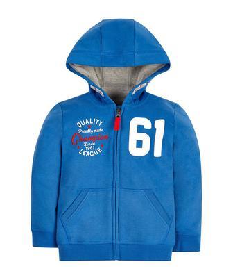 Скидка 30% ▷ Кофта Blue Champion 61 з капюшоном та застібкою блискавкою від Mothercare