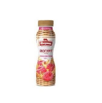 Йогурт клубника, персик 1,5%    Ферма  0,25 л