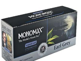 Чай черный/зелений пакетированный Мономах 25 х 2 г
