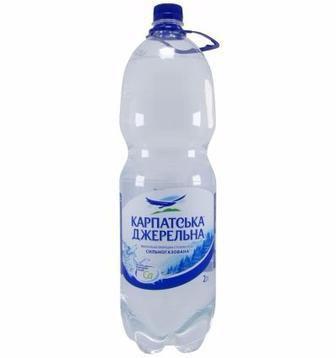 Вода минеральная Карпатська Джерельна сл/газ, н/газ, газ, 2л