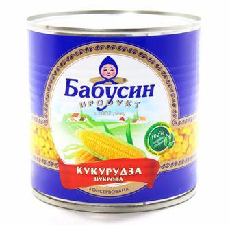 Консерва овочева Кукурудза Бабусин продукт Агроспецпроект 340г