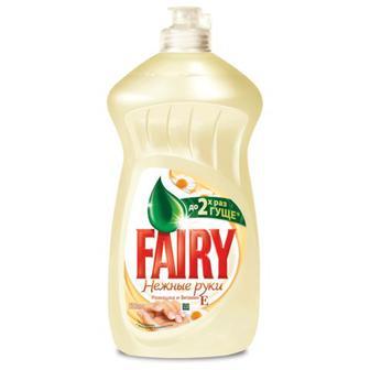 Средство для мытья посуды FAIRY (Фейри) 500мл, Ромашка и витамин Е