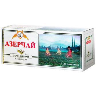 Чай Azercay зелений з чебрецем 25пак.