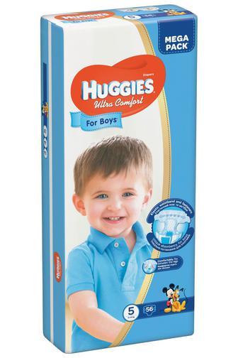 Підгузки Huggies Ultra Comfort Для Хлопчиків або дівчаток Розмір 5 (12-22 КГ) 56 шт