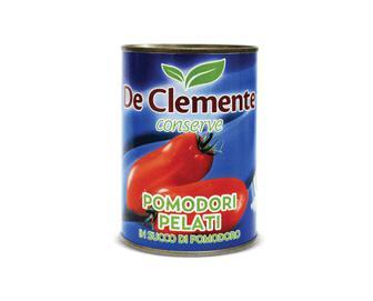 Томати De Clemente очищені в томатному соку цілі, 400г