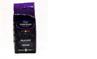 Кава Delicado мелена, в зернах, Caffe Tomasso, 250г