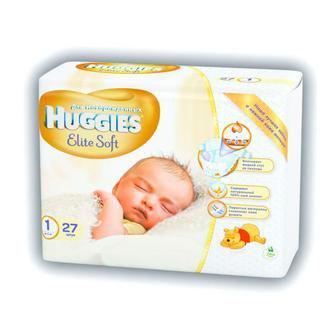 Подгузники Huggies Еlit Soft 1,2-5 кг 26шт / 2, 4-7 кг 24шт
