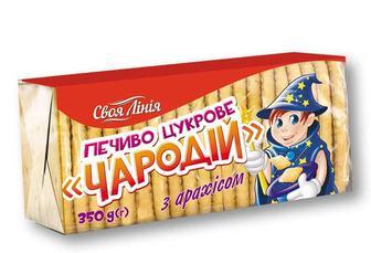 Печиво «Чародій» цукрове з арахісом Своя Лінія 350 г