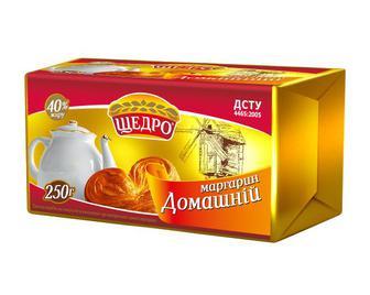 Маргарин Щедро Домашній 250г