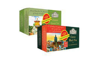 Чай 40 пакетиків Чорний класичний, Зелений китайський Ахмад 40х2 г 40х1,8 г