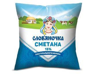 Сметана 15% Слов'яночка 380 г