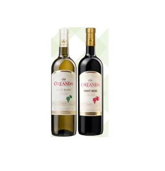 ВИНО півсолодке Pinot Blanc, Pinot Noir, 0,75 л OREANDA