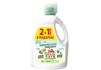 Green&Clean Professional гель для прання дитячої білизни, 3 л