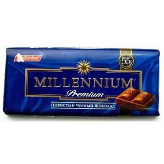Шоколад Millennium молочный пористый 80 г