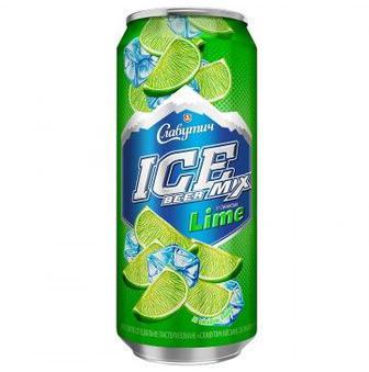 Пиво Ice Mix Lime Славутич 0,5л
