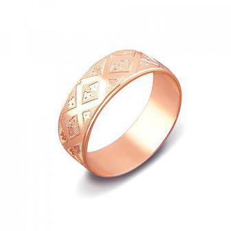 Обручальное кольцо с алмазной гранью. Артикул 1070/15