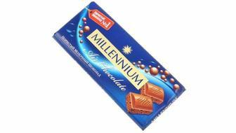 Шоколад пористий молочний, Міленіум 180г