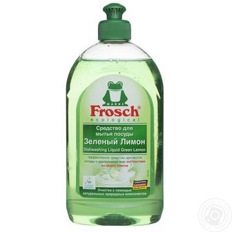 Засоби для миття посуду Frosch зелений лимон