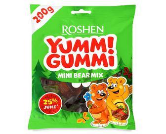 Цукерки Roshen, Yummi Gummi Mini Bear Mix желейні, 200г