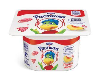 Йогурт «Растишка» з наповнювачем персик, 2% жиру, 115г