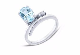 Кольцо Серебряное с топазом R01535T