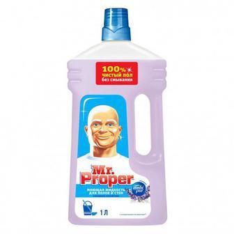 Моющая жидкость для полов и стен Mr. Proper 1 л