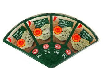 Сыр Auchan Рокфор 55% 4 по 25г