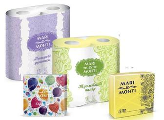 Туалетний папір, рушники паперові Mari e Monti