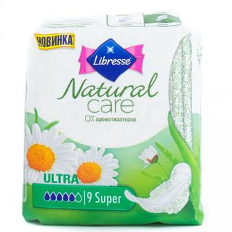 Прокладки Natural Care Super Libresse 9шт