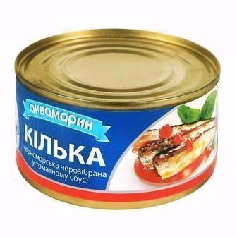 Кілька обсмажена в томатному соусі Аквамарин 230 г