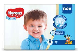 Підгузки Huggies Box Ultra Comfort для хлопчиків 5 (12-22 кг) 84 шт./уп