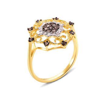 Золотое кольцо с фианитами. Артикул 12967/eu кор