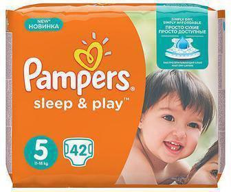 Підгузники Sleep&Play Midi (3), 58 шт. Maxi (4), 50 шт. Junior (5), 42 шт.  Pampers