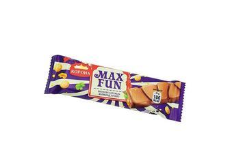 Шоколад Максфан молочний, вибухова карамель, мармелад, печиво Корона 38 г