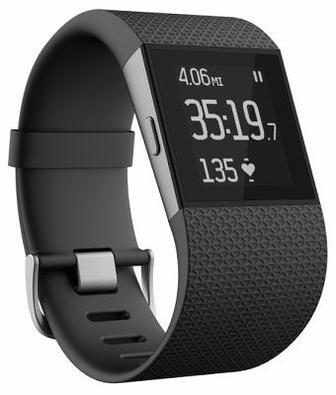 Фитнес-трекер Fitbit Surge - Super Watch L (Black)