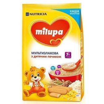 Каша Milupa молочная мультизлаковая с детским печеньем (с 7 месяцев) 210 г