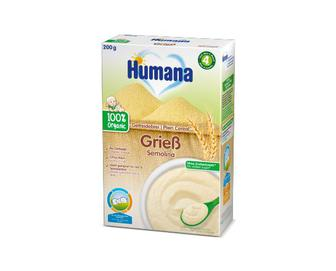 Каша Humana безмолочна органічна пшенична, 200 г