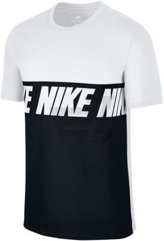 Футболка Nike M NSW TEE AV15 BLK REPEAT 856475-100 XL білий