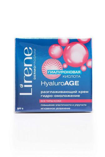 Крем для лица Lirenе Hyaluro Age гидро-омоложение SPF 6 Разглаживающий, 50мл