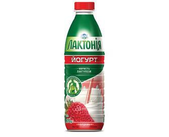 Йогурт «Лактонія» з лактулозою 1,5% полуниця, 870 г