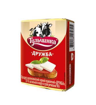 Продукт сирний плавлений Дружба 55% Тульчинка