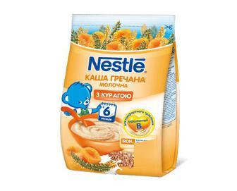 Каша гречана Nestle молочна з курагою, 180 г
