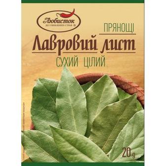 Лавровий лист сухий цілий, Любисток, 20г