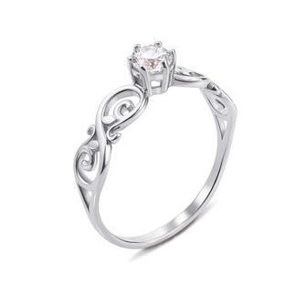 Скидка 55% ▷ Золотое кольцо с фианитом Swarovski Zirconia. Артикул 12236/б SW