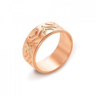 Обручальное кольцо с алмазной гранью. Артикул 10101/15
