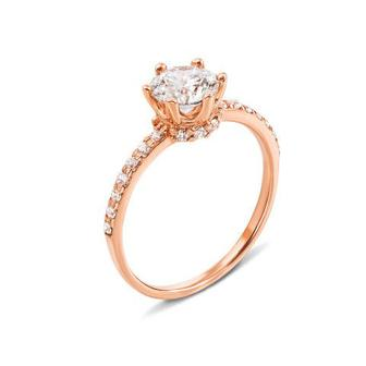 Золотое кольцо с фианитами Swarovski Zirconia. Артикул 12310/SW