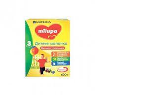 Детская сухая молочная смесь 3, Мilupa, 600г