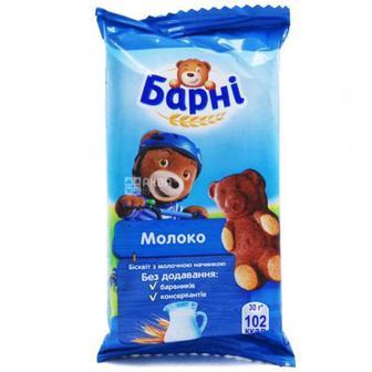 БІСКВІТ Молоко, Шоколад, 30 г БАРНІ