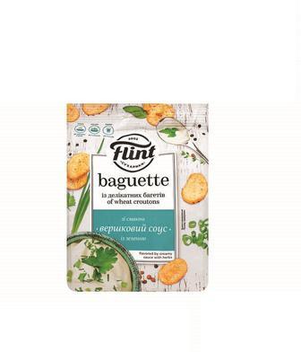 Сухарики Багет ашеничні зі смаком Вершковий соус із зеленню, або Французький 110г